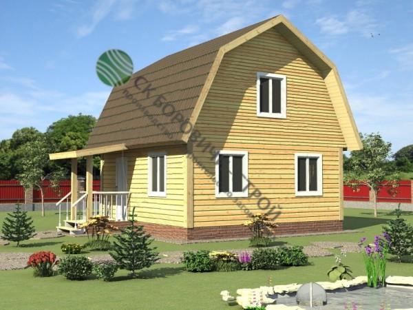 Дом из профилированного бруса. Проект Б - 7.