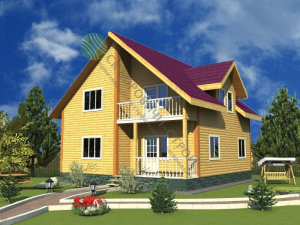 Дом из профилированного бруса. Проект Б - 14.