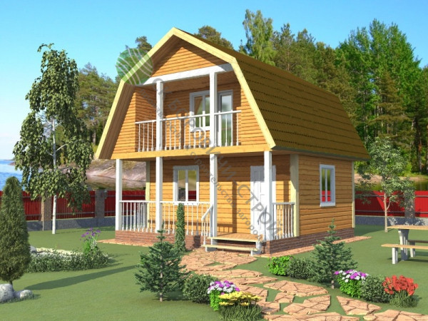 Дом из профилированного бруса. Проект Б - 8.