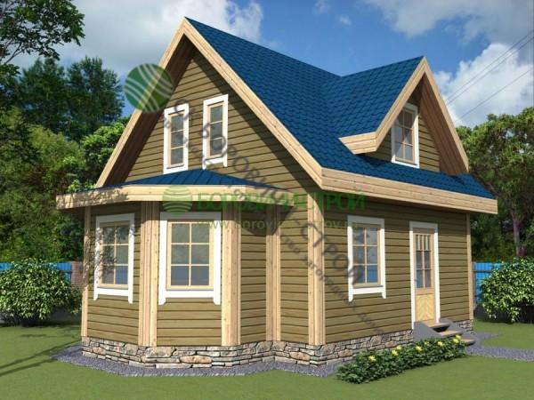 Дом из профилированного бруса. Проект Б - 6.